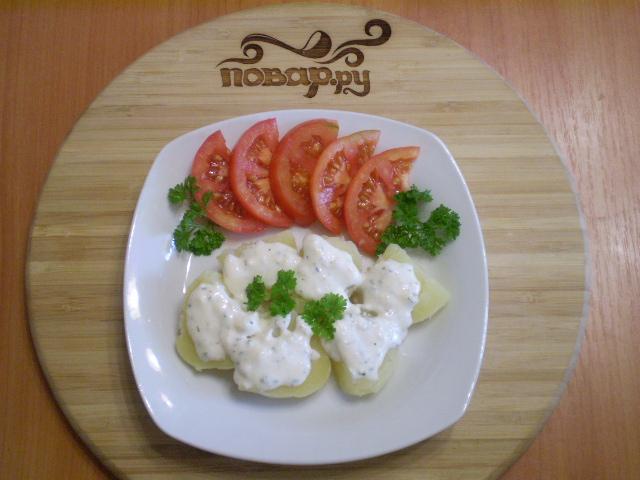 Картофель под сырным соусом - фото шаг 9