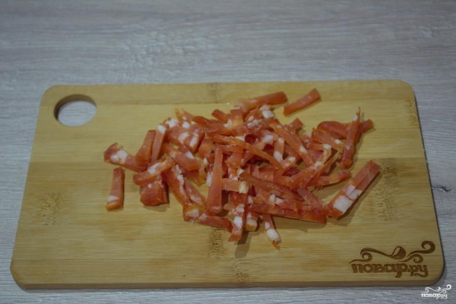 Салат с салями и кукурузой - фото шаг 1