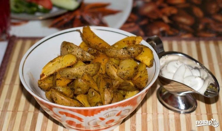 """Картофель """"Айдахо"""" в духовке - фото шаг 5"""