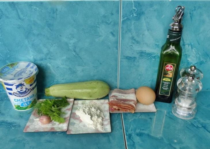 Рецепт Блинчики из кабачков с курицей