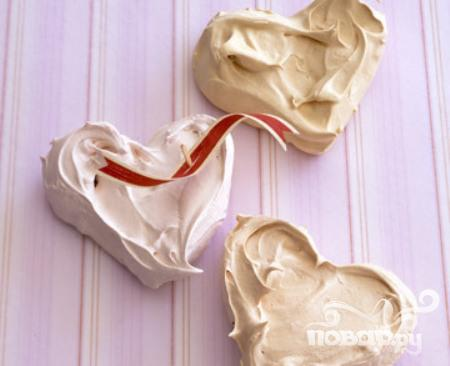 Меренги-сердечки с цедрой