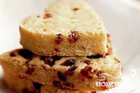 Рецепт Печенье-сердечки с клюквой