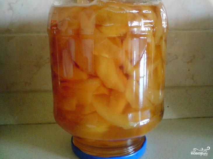 Варенье из зеленых персиков