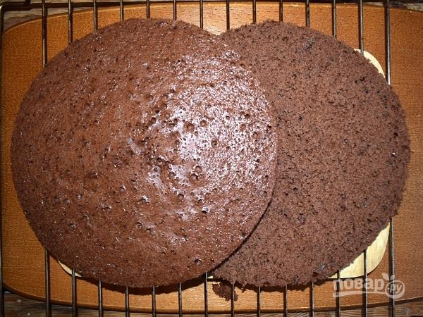 Бисквитный торт с творожным кремом - фото шаг 5