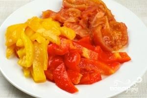 Салат из запеченных перцев - фото шаг 4