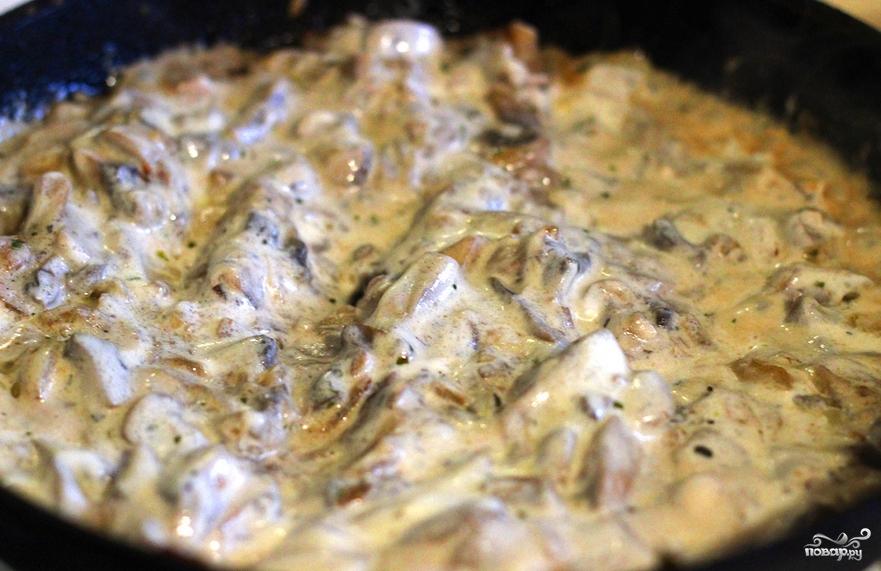 Жульен с грибами в духовке - фото шаг 4