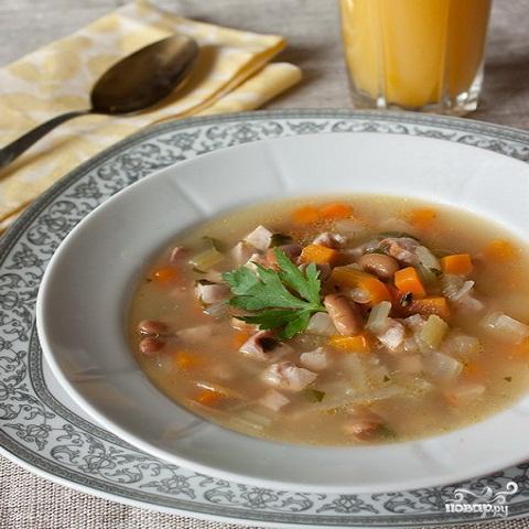 Суп с консервированной фасолью - фото шаг 3