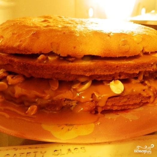 """Торт """"Сникерс"""" - фото шаг 7"""