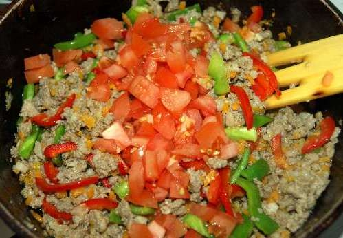 Ризотто с овощами и мясом - фото шаг 6