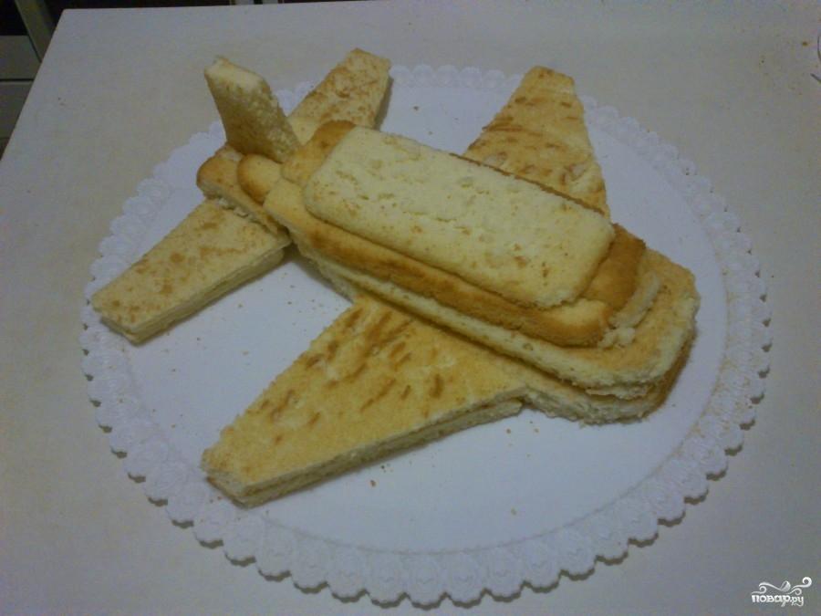 Торт в виде самолета - фото шаг 2