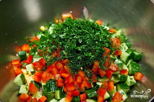 Салат из сладкой кукурузы - фото шаг 8