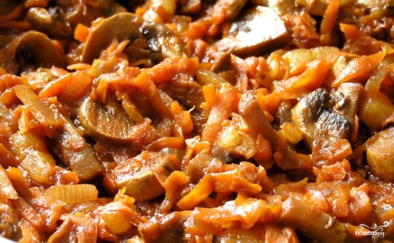 Рецепт Жаркое из соевого мяса с грибами