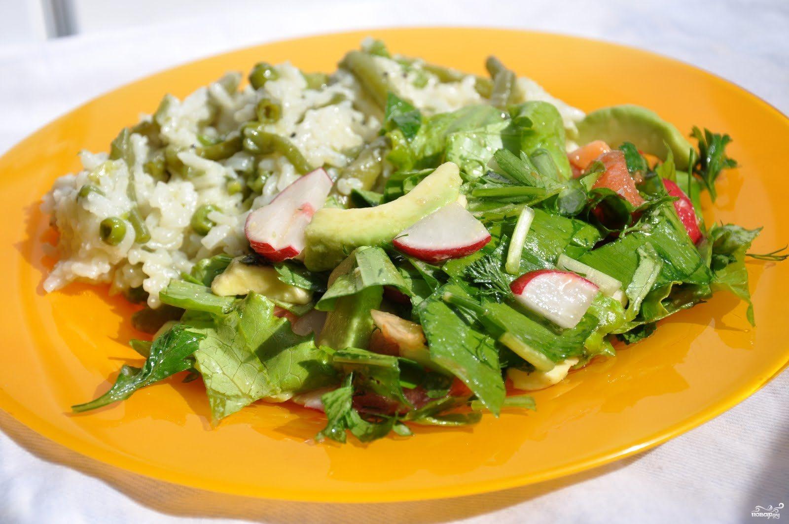 Рецепт Овощной салат с редиской