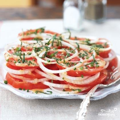 Рецепт Салат из помидоров и лука
