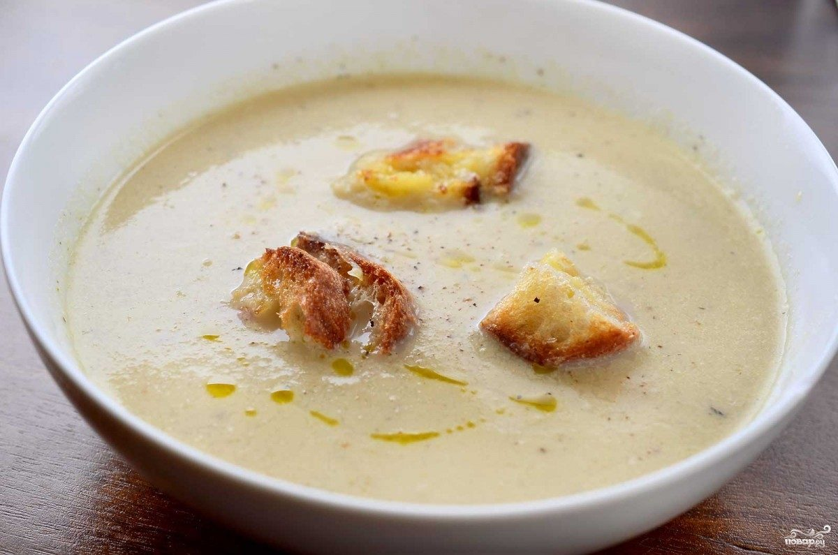 Рецепт Суп из цветной капусты с плавленым сыром
