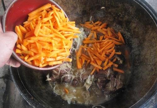 как готовить лагман в казане на костре