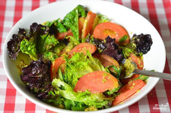 Салат с фисташками - фото шаг 7