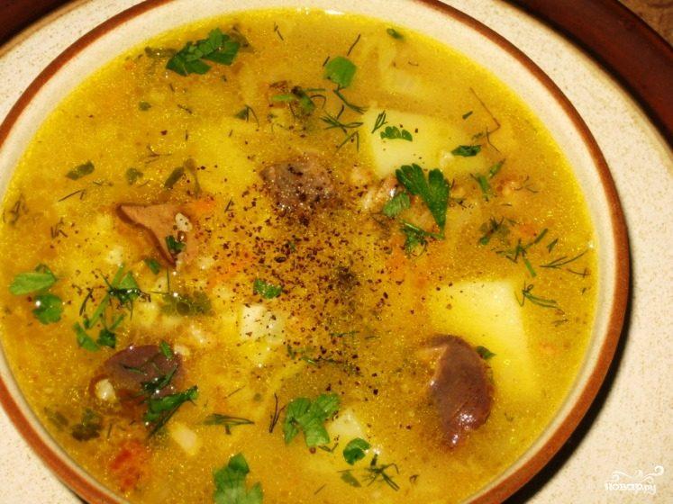 Суп пшенный с мясом