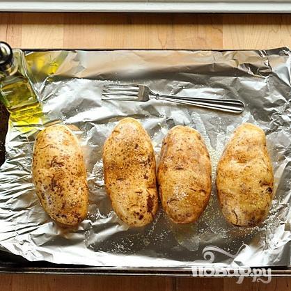 Запеченный картофель с беконом и сыром - фото шаг 1