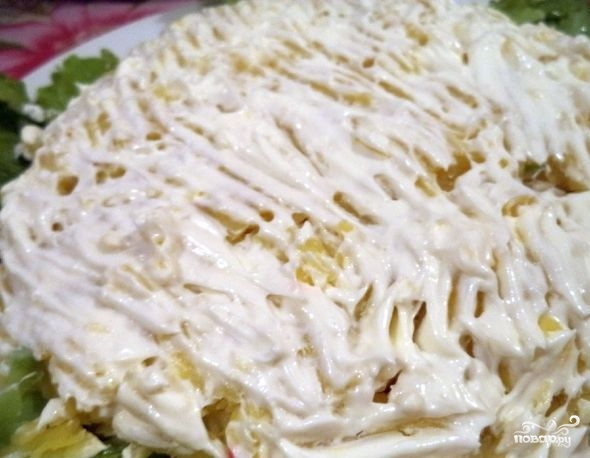 Салат куриный слоеный - фото шаг 4