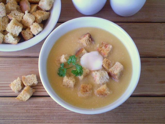 Гороховый суп-пюре с гренками - фото шаг 8