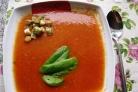 Томатный суп с грибами