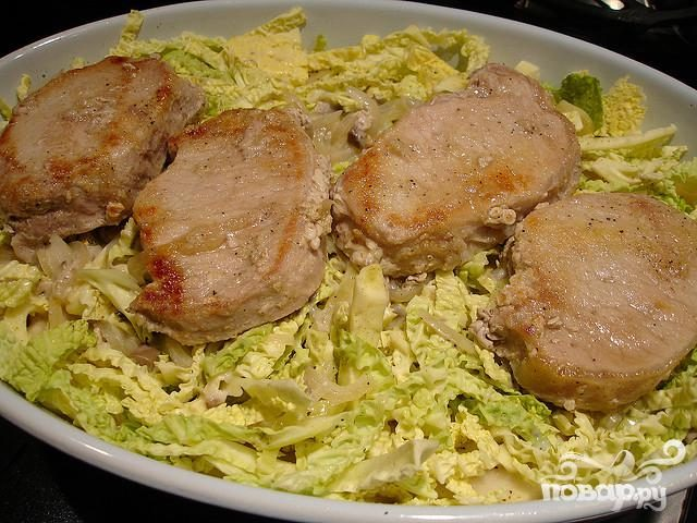 Капуста в духовке с мясом с пошагово
