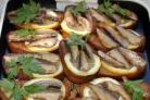 Бутерброды со шпротами и лимоном