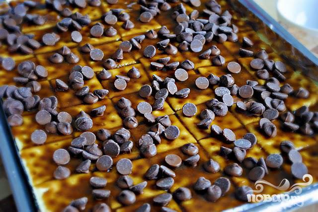 Крекеры с шоколадом и карамелью - фото шаг 3