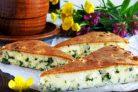 Пирог с зеленым луком и яйцом