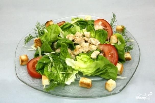 салат из курицы цезарь классический рецепт в домашних условиях #10