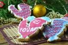 Новогоднее печенье Петушки