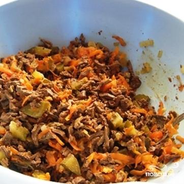 салаты из печени говяжьей рецепты с фото простые