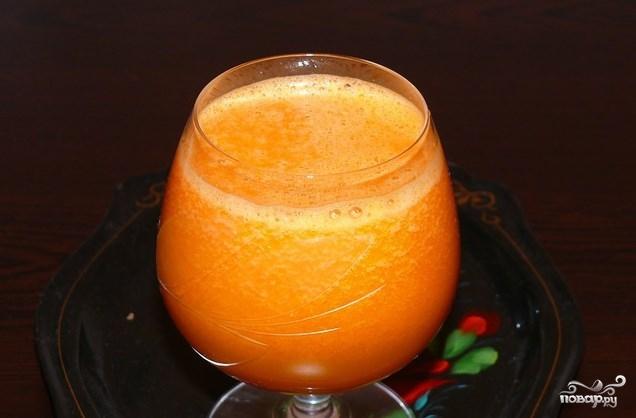 Сок из тыквы и моркови на зиму