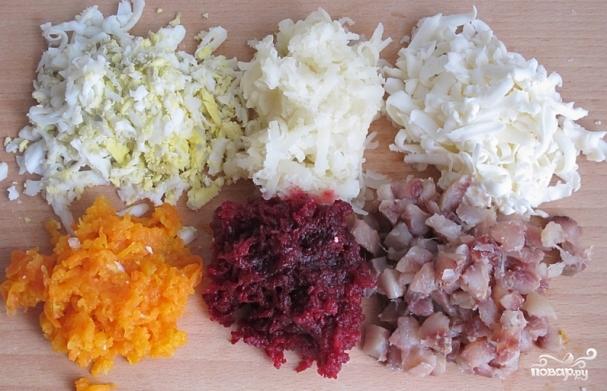 как готовится под шубой салат рецепт