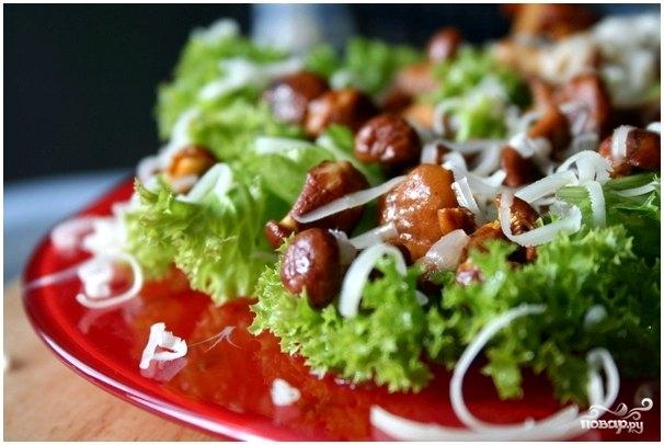 Рецепт Салат с жареными опятами