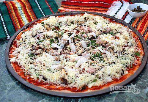 видео рецепты пицца из морепродуктов