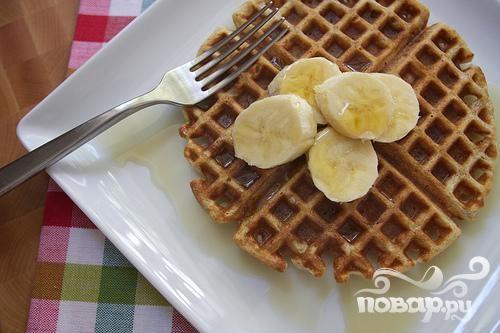 Вафли с коричневым маслом