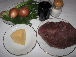 Мясо в вине в духовке - фото шаг 1