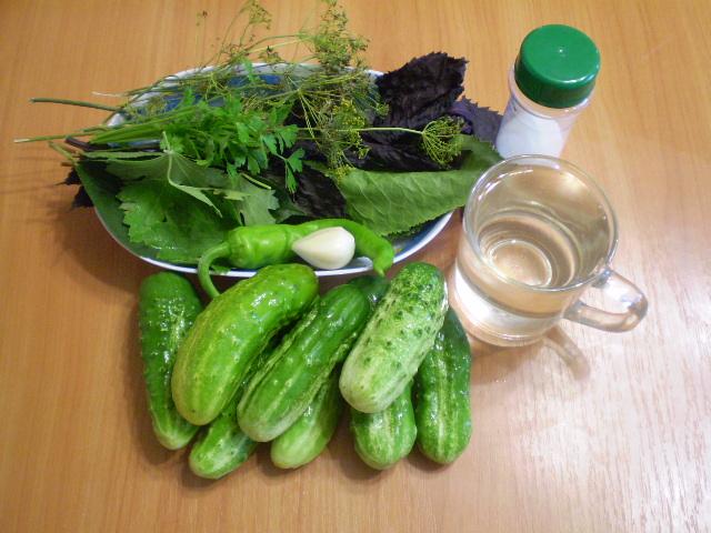 Рецепт Малосольные огурцы быстрого приготовления