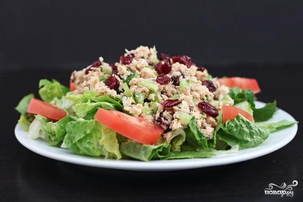 Рецепт салата из лосося консервированного