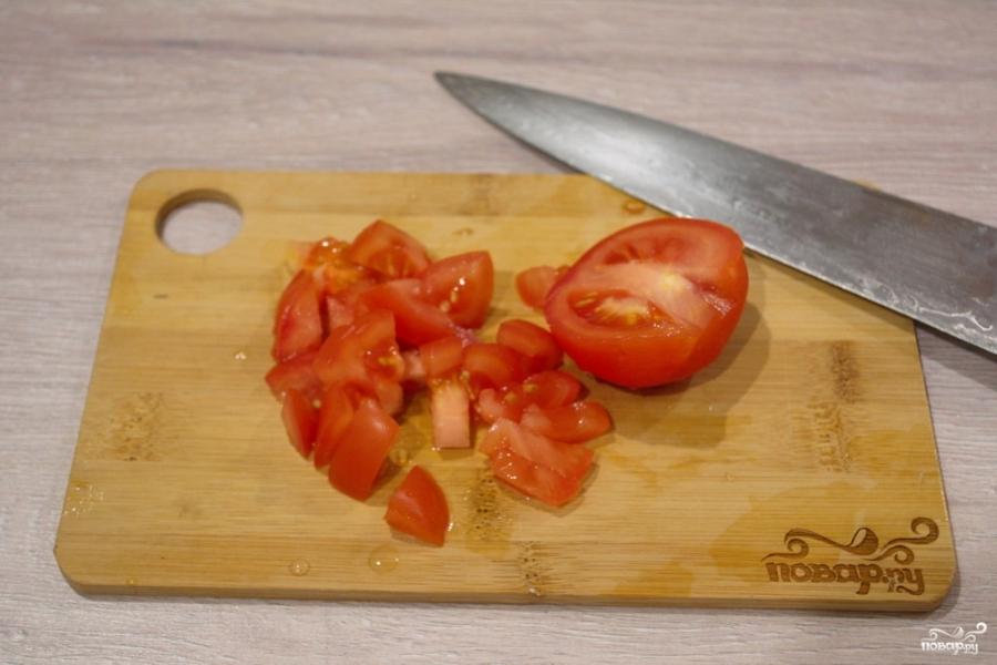 Жареный сулугуни с помидорами - фото шаг 4