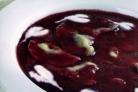 Суп с вишней и варениками