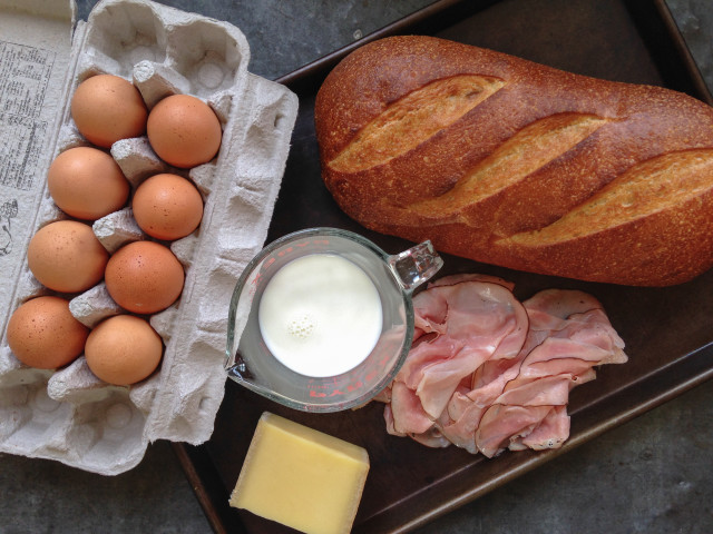 Рецепт Горячие бутерброды с ветчиной и сыром