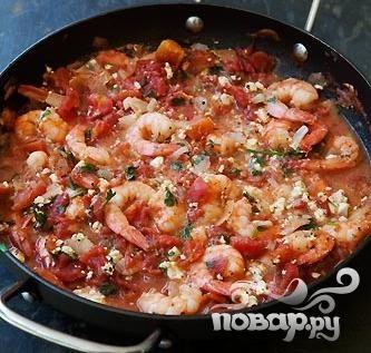 Рецепт Запеченные креветки в томатном соусе