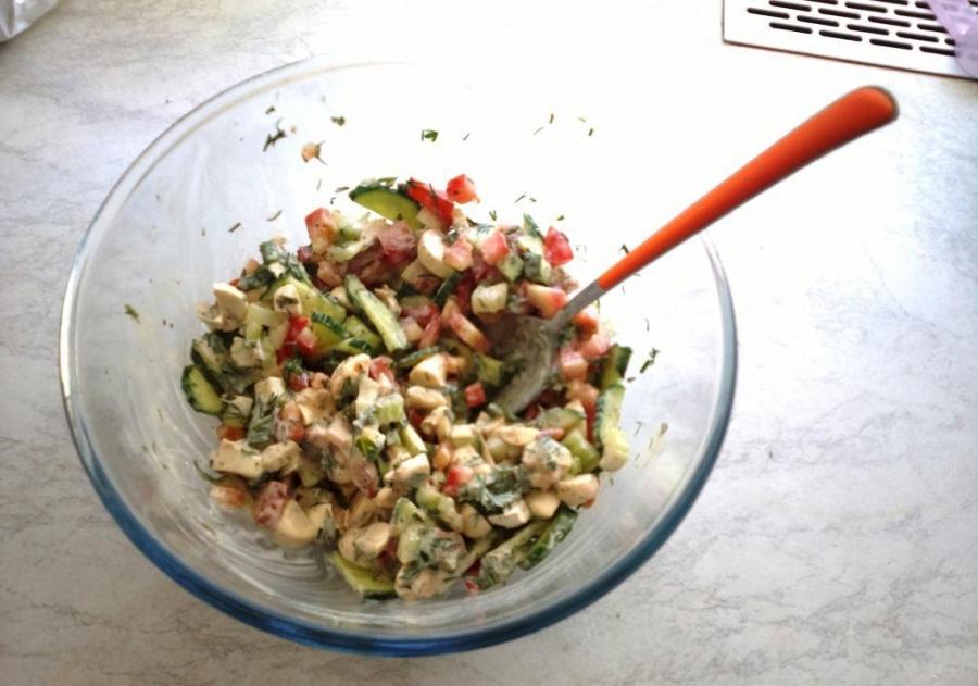 Салат за 10 минут - фото шаг 5