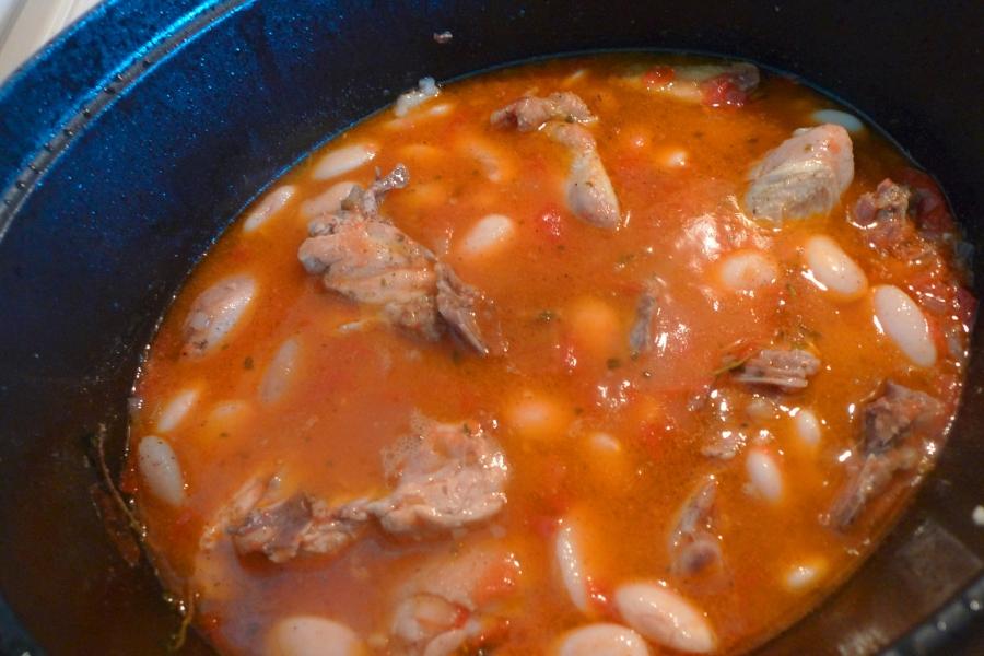 Курица с консервированной фасолью рецепт с пошагово
