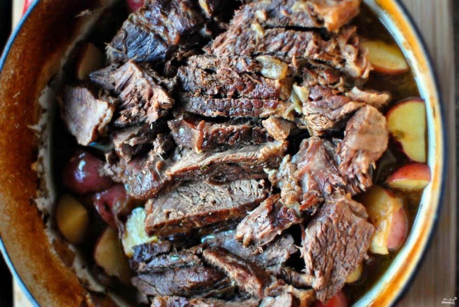 лопатка запеченная с картошкой в духовке рецепт