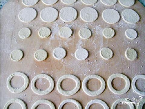 Слоеные валованы с творогом - фото шаг 1