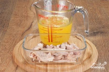 заливное из курицы рецепт с фото